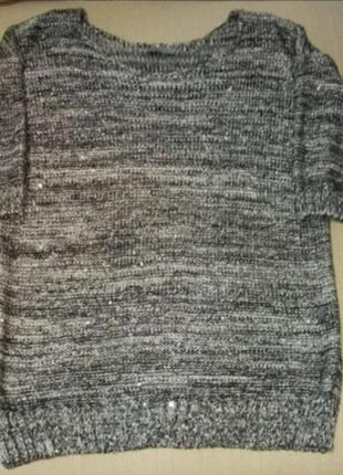 Красивый свитер с пайетками f&f.