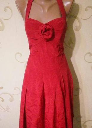 Эффектное вечернее коктейльное платье сарафан . размер 12