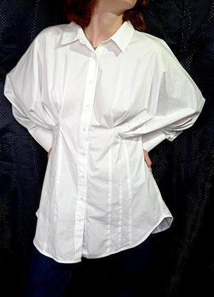 Оригинальная белая рубашка, блузка, 100% хлопок