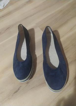 Замшевые туфли gabor, 5.5 , наш 39