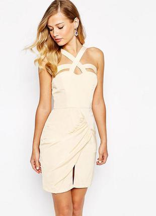 Эффектное мини платье asos