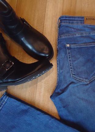 Стильные джинсы, скинни на высокой посадке
