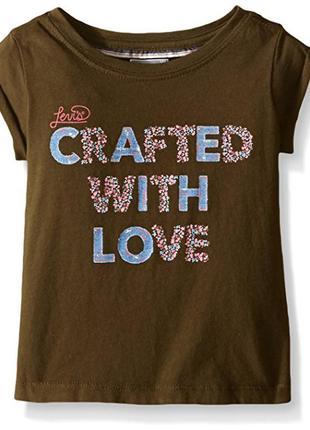 Хлопковая футболка levis на девочку-подростка 10-12 лет