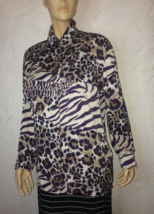 Escada натуральный шёлк роскошная свободная блузка