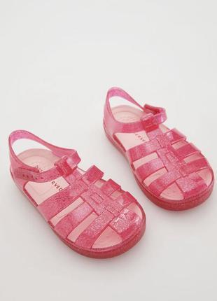 Босоніжки гумові сандалі пляжні крокси reserved босоножки резиновые сандали пляжные кроксы для девочки дівчинки резинові