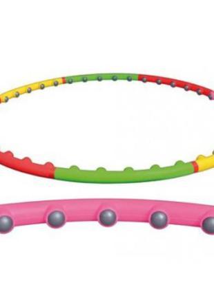 Массажный разборный обруч хула-хуп с массажными шариками