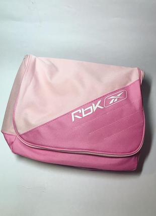 Спортивная,розовая сумка,клатч,косметичка,торба, reebok оригинал.