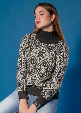 Шикарный свитер шерсть альпака от h&m 44-46-48р. снежинка