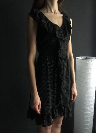 Идеальное винтажное платье в горошек topshop