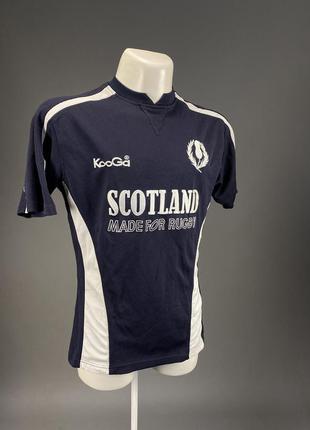 Футболка регбийка kooga, scotland, т.синяя