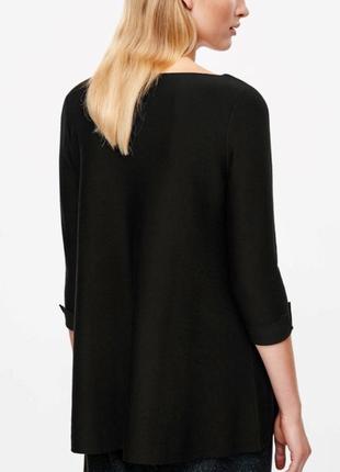 Cos шерстяной чёрный свитер джемпер 34,36 размер merino wool