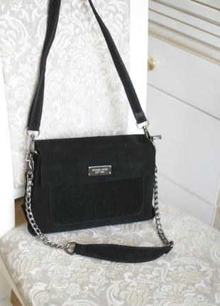 Шикарная женская сумка кросс-боди machael kors, натуральная кожа