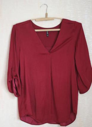 Рубашка красивого  винного цвета