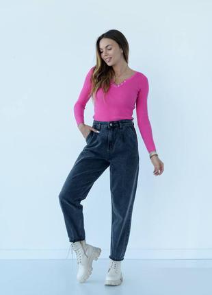 Джинсы баллоны, слоучи, графит, широкие джинсы, джинсы свободного кроя