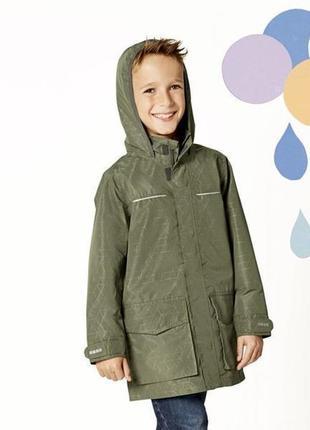 Качественная куртка-дождевик crivit на трикотажной подкладке на рост 128 см