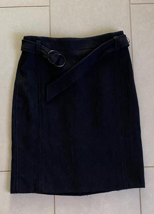 Тёплая юбка миди шерсть размер м