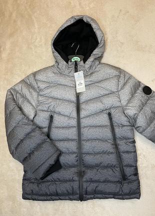 Тёплая куртка пуховик омбре демисезонная