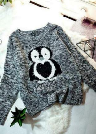 Милый свитерок с пингвином