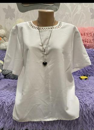 Безумно красивая нарядная блуза большой размер