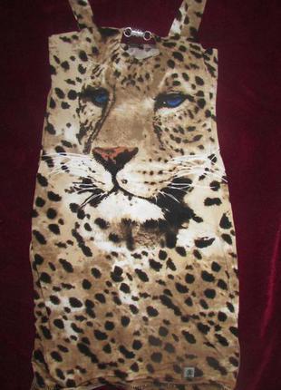 """Платье """"тигр"""" от roberto cavalli."""