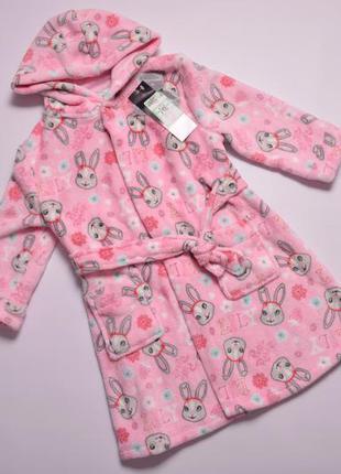 Теплый плюшевый халат, теплий дитячий халат george 98-104