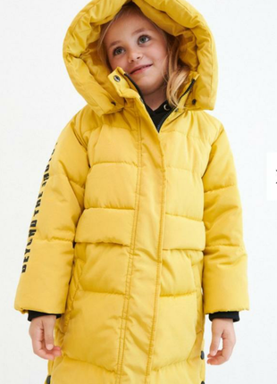 Стильное пальто reserved для девочки 6-7 лет (116-122 см)