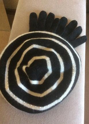 Новые берет и перчатки шерсть alice hannah лондон