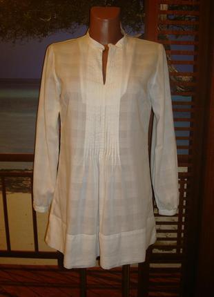 Рубашка удлиненная хлопковая\хлопок р.8-10