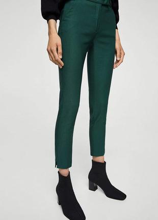 Актуальные зелёные зауженные брюки saint tropez