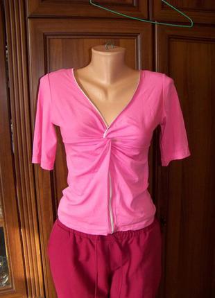 Вискозная розовая оригинальная блузка франция nana baila