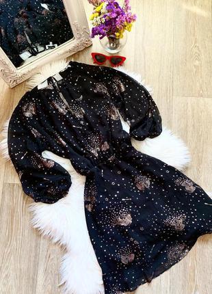 Шикарное чёрное платье в блёстках ✨