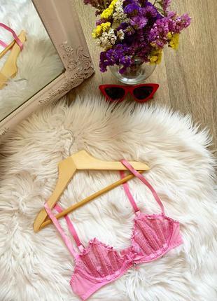Новый розовый кружевной бюстгальтер 😍