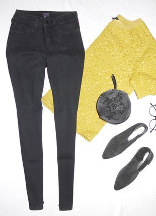 Skinny джинсы скинни с завышенной посадкой . цвет мокрый асфальт made in usa