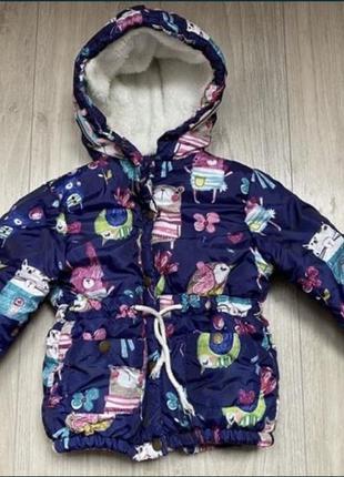 Куртка осень-зима на девочку 3-4 года