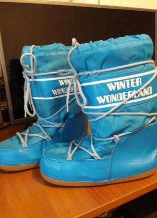 Зимние сапоги луноходы мунбуты снегоходы moon boots