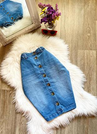 Стильная джинсовая юбка с пуговицами 😍