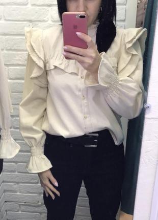 Теплая рубашка микровельвет