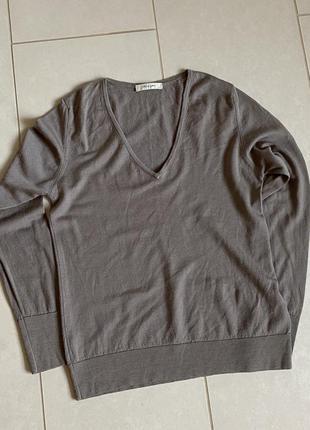 Дизайнерский пуловер шерсть merino размер м/l