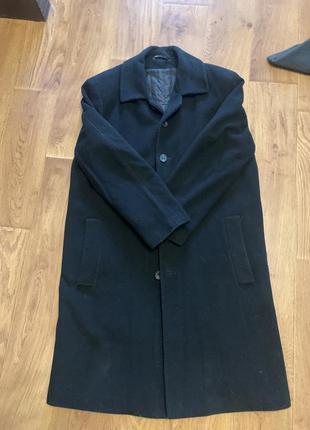 Шерстяное пальто с подкладкой