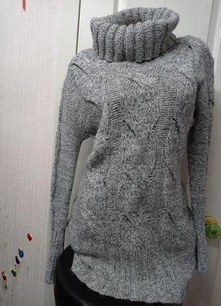 Длинный свитер платье