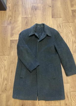 Зимнее шерстяное пальто с подкладкой