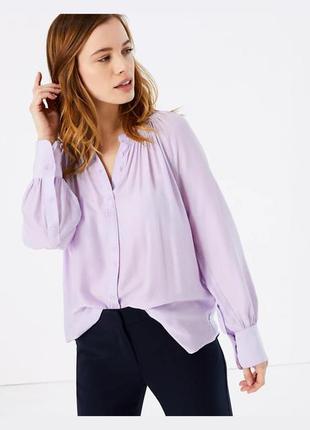Лиловая блуза 💜m&s размер s