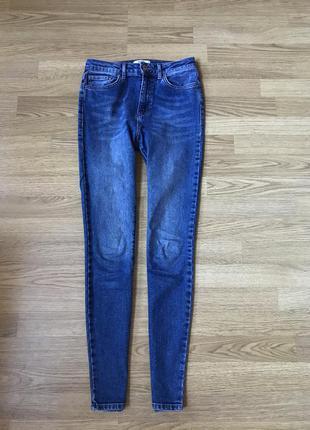 Синие джинсы скинни forever 21