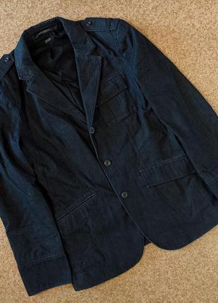 Джинсовый пиджак блейзер armani exchange