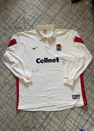 Вінтажний лонгслів england rugby