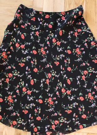 Летняя юбка с цветами