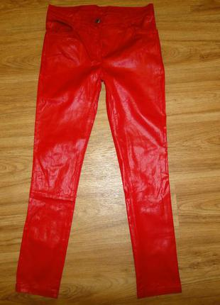 Модные, стильные джинсы на девочку bizzy р.140 (8-10л) хлопок покрытие