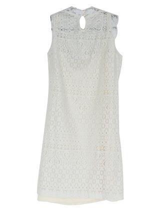 Гипюровое платье с кремовым низом 16842