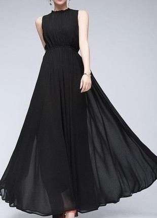 Великолепное черное платье из шифона daisy and jay 44-46 (укр) или s-m