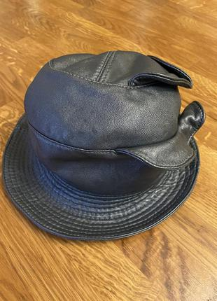 Шляпа натуральна шкіра вінтаж